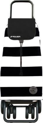 Сумка-тележка хозяйственная чёрная с белым Rolser LOGIC TOUR PAC045blanco/negro