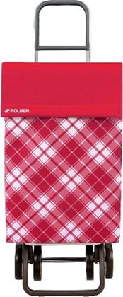 Сумка-тележка хозяйственная красная Rolser DOS+2 JEA022rojo