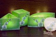 """Лампион """"Орхидея"""", 4-угольная призма, 110х105мм Bartek Candles 185091"""