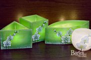 "Лампион ""Орхидея"", треугольная призма, 160х90мм Bartek Candles 185093"