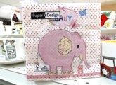 Салфетки для декупажа Розовый слон, 33x33см, 3 слоя, 20шт Paper+Design 21802