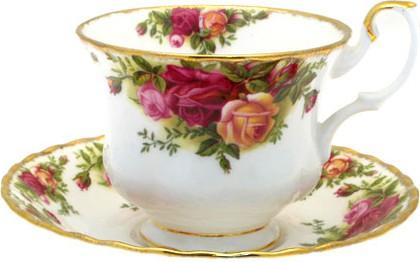 """Чайная пара """"Розы Старой Англии"""" 200мл Royal Albert IOLCOR130/0131"""