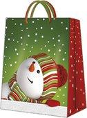 """Пакет подарочный """"Веселый снеговик"""" 20x25x10см Paw AGB030803"""
