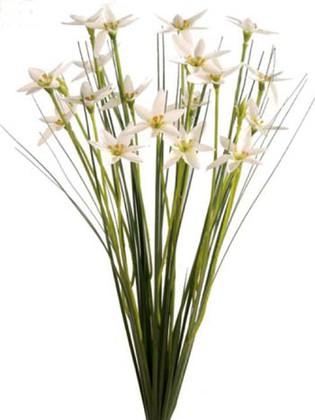 """Цветок искусственный """"Цветочные звёзды в траве"""", белые Floralsilk 11648WH"""