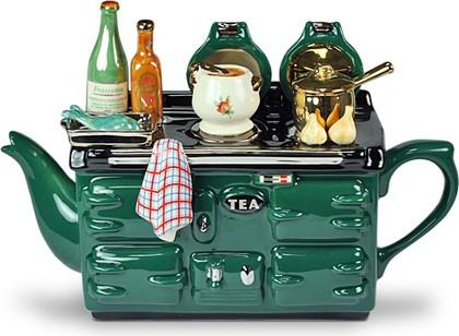 """Чайник заварочный """" Рыбный день"""" (плита, рыба, супница, кастрюлька, чеснок, брокколи, бутылочки с соусами) The Teapottery 4403"""