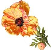 Цветок искусственный Мак королевский, коралловый, 75см Top Art Studio HSD0300-TA