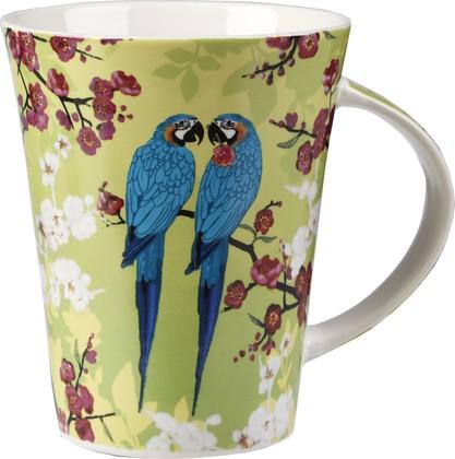 Кружка Попугаи в цветах, Flirt 370мл Queens LEGS00021