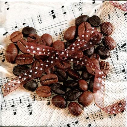Салфетки для декупажа Кофейное сердце, 33x33см, 3 слоя, 20шт Paper+Design LN0865
