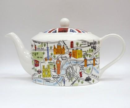 Чайник Карта Лондона, 0.7л James Sadler JSLC00261