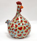 Копилка Маленький Цыплёнок MARIE голубая с сердечками Pomme-Pidou 148-00071/2