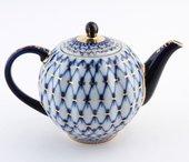 Чайник заварочный Кобальтовая сетка, ф. Тюльпан ИФЗ 80.00231.00.1