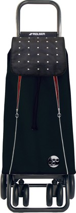 Сумка-тележка хозяйственная чёрная с красным Rolser LOGIC TOUR PAC097negro/rojo