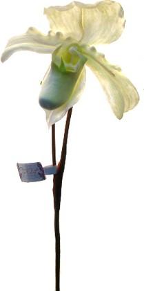 """Цветок искусственный """"Башмачок"""" белый Top Art Studio SP-002-25S-2"""