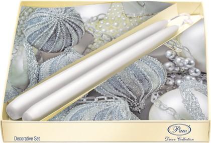 Набор 20 салфеток, 2 свечи Серебрянные игрушки Paw SSC024800
