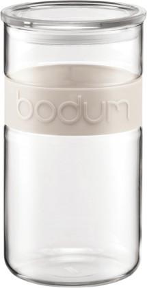 Bodum PRESSO Банка для хранения стеклянная, декор белый, 2л, артикул 11130-913