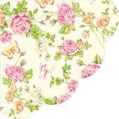 Салфетки круглые Садовые Розы, d32см, 3 слоя, 12шт Paw SDR340000