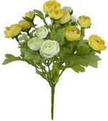 """Цветок искусственный """"Ранункулус жёлтый"""" 22см Floralsilk 12490CR-Y"""