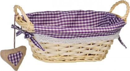 Корзинка для xлеба овальная, фиолетовая клетка, 27x19см Premier Housewares 1901047