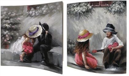 Картина Первая любовь 38x38см, пара Top Art Studio WDP1754-TA