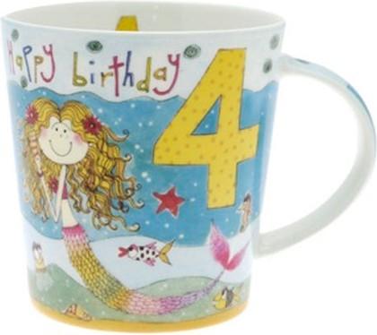 """Кружка для девочки """"С Днём Рождения 4 года"""" Рэйчел Эллен The Leonardo Collection LP32841"""