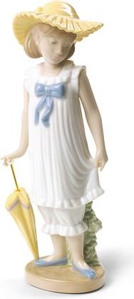 Статуэтка фарфоровая Девочка с зонтиком (April Showers) Специальное издание 18см NAO 02001702