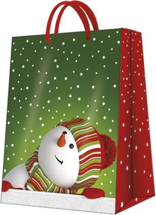 """Пакет подарочный """" Веселый снеговик"""" 30x41x12см Paw AGB021302"""