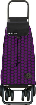 Сумка-тележка хозяйственная складная фиолетово-чёрная Rolser LOGIC TOUR PAC043lila/negro