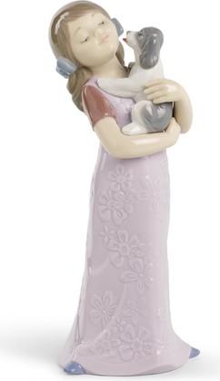 Статуэтка фарфоровая Ласковый щенок (Puppy Cuddles) 21см NAO 02001535