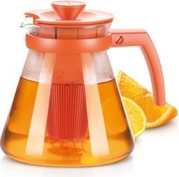Чайник 1.25л, с ситечками для заваривания, оранжевый Tescoma TEO 646623.17