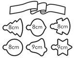 Формочки для печенья Адвентный календарь слентой, 6шт.ук Tescoma DELICIA 630914