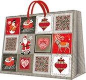 """Пакет подарочный """"Картинки Рождества"""" 25x20x10см Paw AGB003618"""