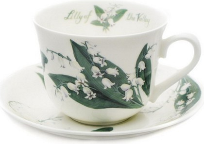 """Чайная пара для завтрака """"Ландыши"""" 500мл Roy Kirkham XFLOS1100"""