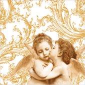 Салфетки Ангелы ренессанса, золотистый, 33x33см, 3 слоя, 20шт Paw SDL001709