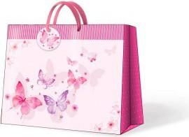 """Пакет подарочный горизонтальный """"Бабочки пестрые """" 33.5x13х26.5см Paw AGB015306"""