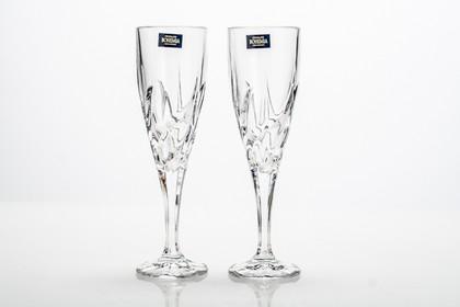 Фужеры для шампанского Эльза 180мл, 2шт Crystalite Bohemia 1KD08/0/99Т81/180Х2