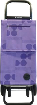 Сумка-тележка хозяйственная фиолетовая Rolser QUATTRE.2 SBE002malva