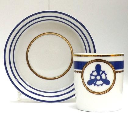 Чашка с блюдцем Кают-компания №4, ф. Гербовая ИФЗ 81.21407.00.1