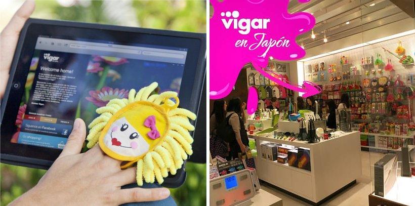 Слева: тряпочка Vigar для очистки особо ценимых поверхностей. Справа: продукция Vigar в японском магазине