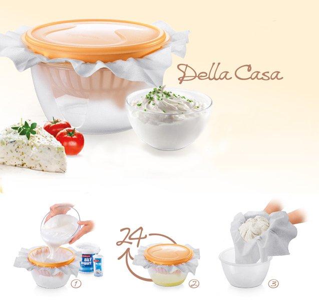 Набор для приготовления сливочного сыра DELLA CASA из ассортимента новинок от Tescoma, представленных в октябре 2015 года
