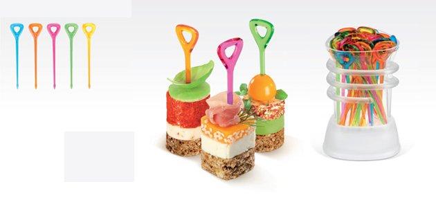 Коктейльные шпажки PRESTO от Tescoma с контейнером для хранения и спиралью для мытья в посудомоечной машине, представленные в октябре 2016 года