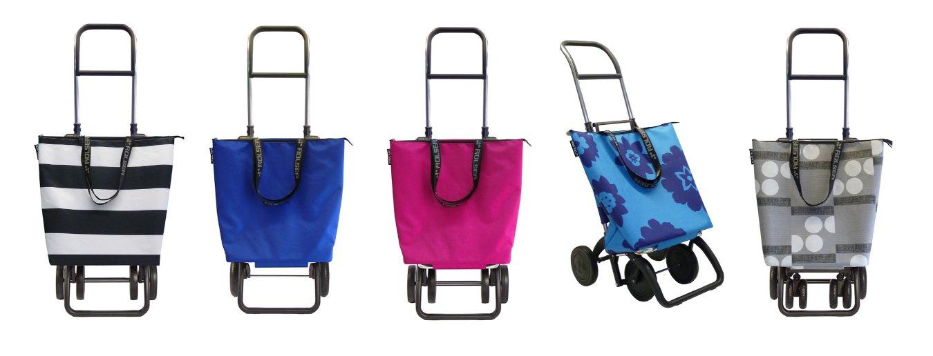 Сумки-тележки Rolser из коллекции MINI BAG PLUS образца 2015 года. Варианты расцветок и шасси