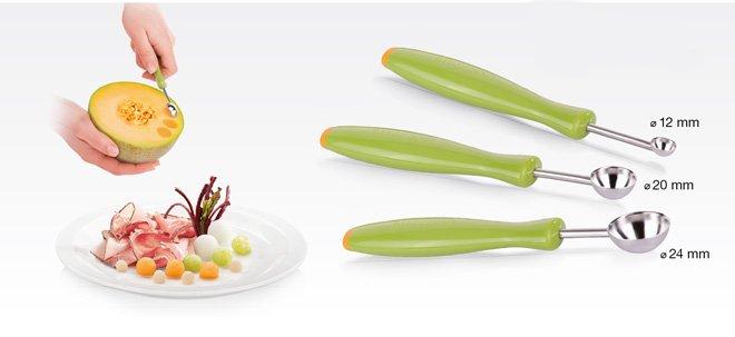 Ложки PRESTO CARVING для формирования овощных и фруктовых шариков, из ассортимента Tescoma (июль-август 2015 г.)