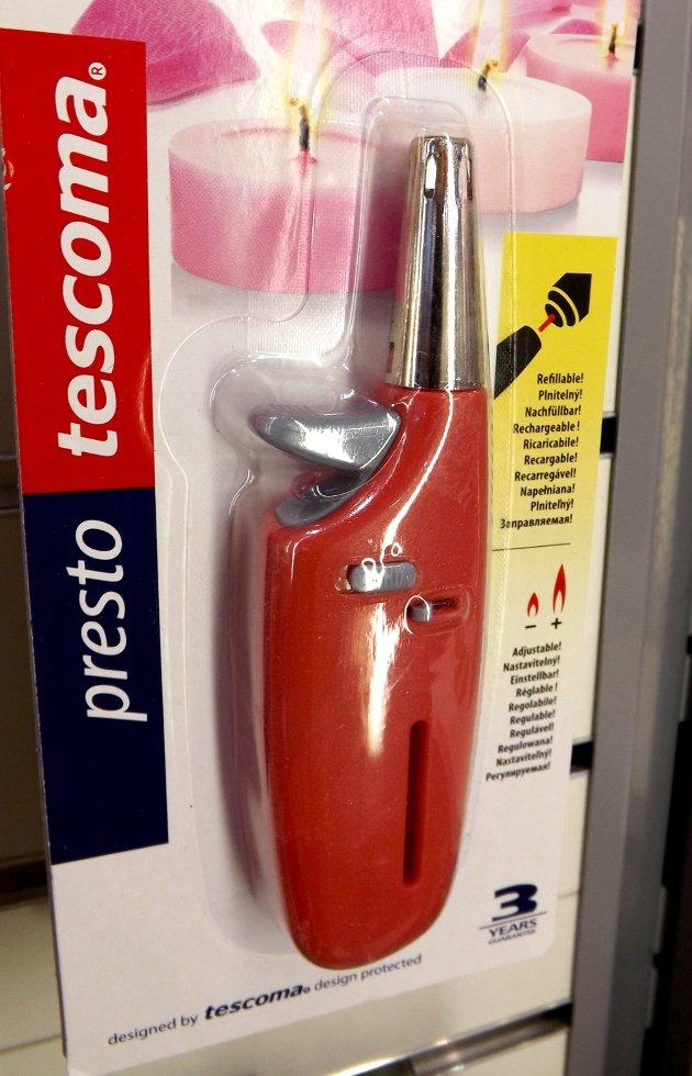 Газовая зажигалка PRESTO из новинок от Tescoma, представленных на выставке HouseHoldExpo в сентябре 2015 года
