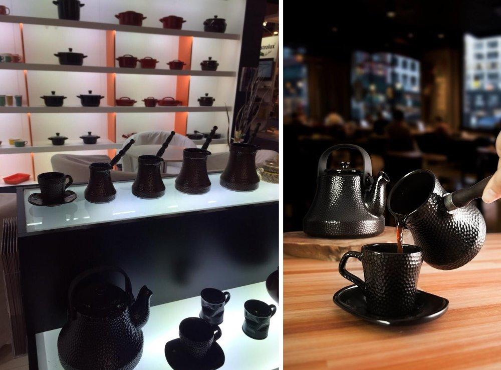 Керамические турки и чашки с блюдцами из коллекции MARTELADA от Ceraflame 2015