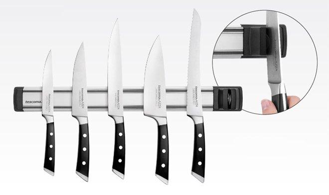 Магнитный держатель ножей PRESIDENT с точилкой из ассортимента новинок от Tescoma, представленных в ноябре 2015 года