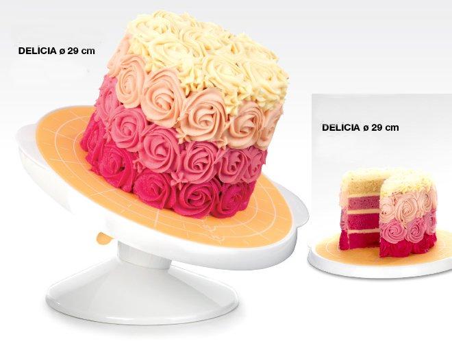 Рабочий столик с подносом DELICIA диаметром 29 см от Tescoma для декорирования торта, представленный в сентябре 2016 года
