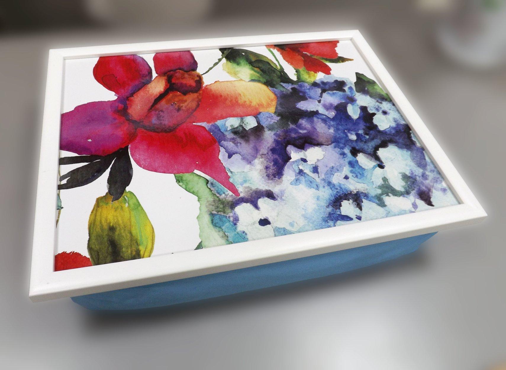 Поднос на подушке с художественным изображением цветов от Top Art Studio