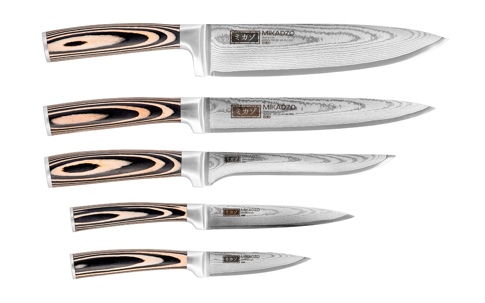 Кухонные ножи Mikadzo DAMASCUS