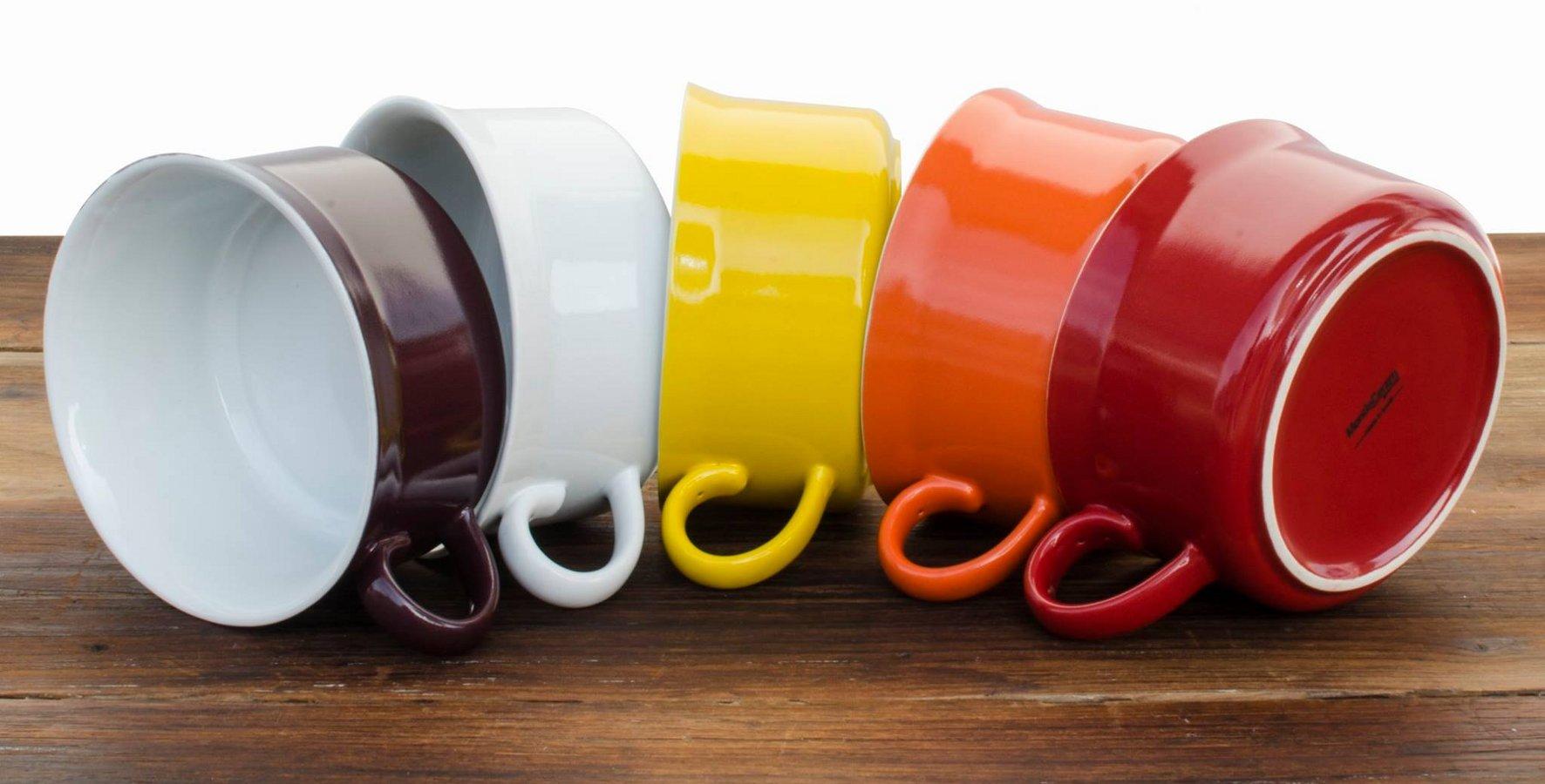 Новинки керамической посуды от Ceraflame 2014 года. Коллекция кружек для супа - вид Б