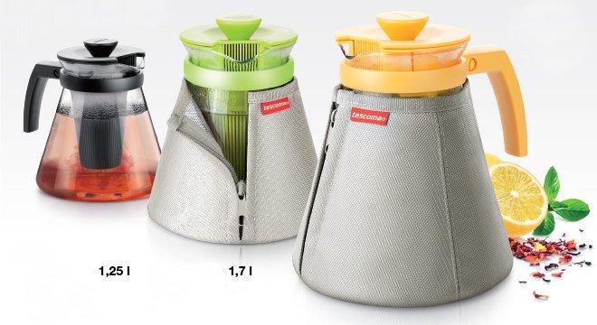 Термочехлы TEO от Tescoma для чайников 1,25 л и 1,7 л, представленные в сентябре 2016 года